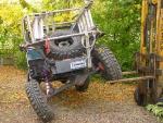 Prepareren van Landrover wedstrijdautos